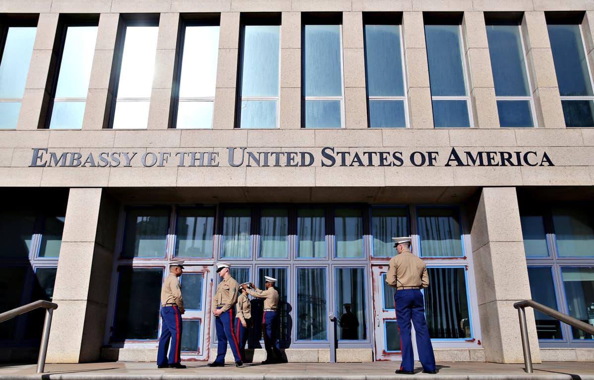 USA:n lähetystö Havannassa.