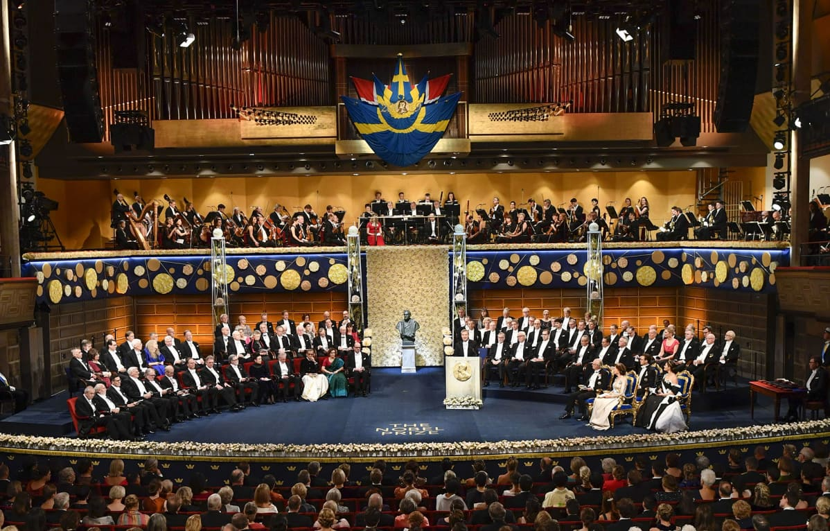 Nobel palkintoseremonia Tukholmassa 10. joulukuuta 2019.