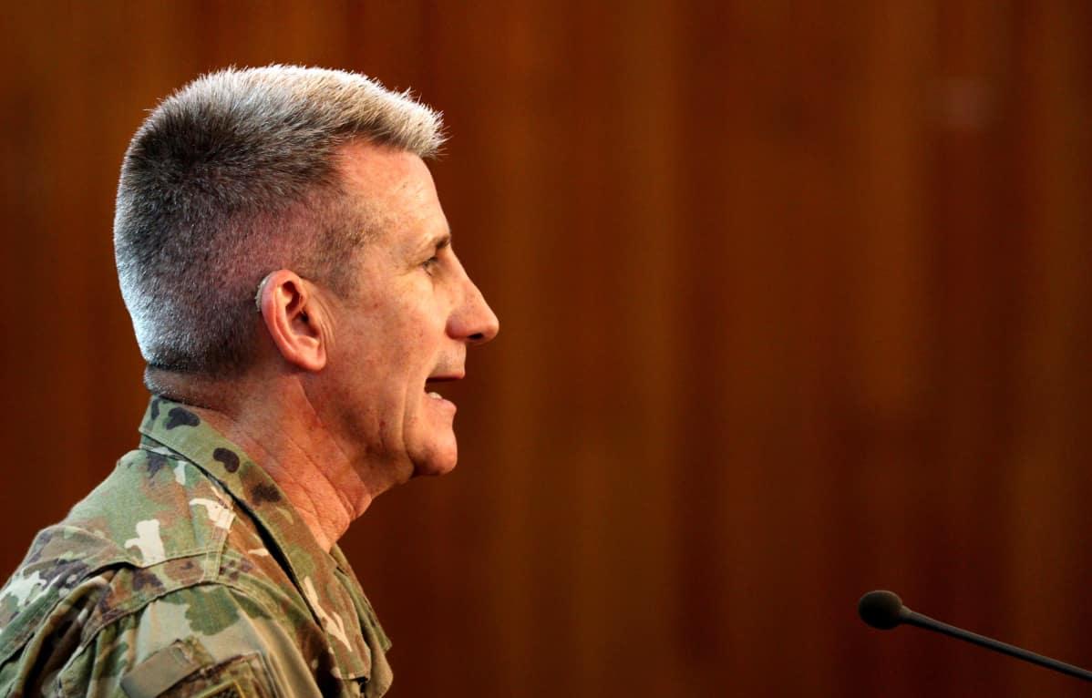 Yhdysvaltain Afganistanin joukkojen komentaja, kenraali John W. Nicholson.