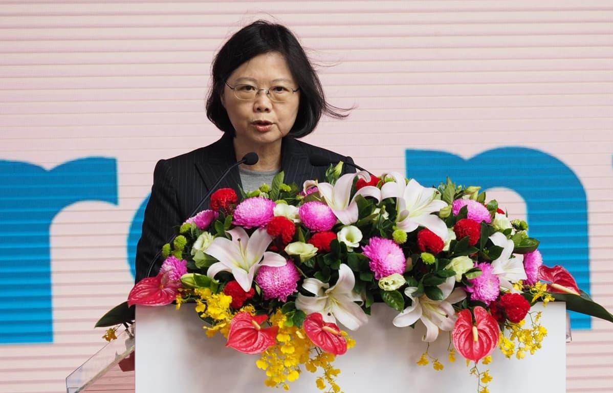 Taiwanin presidentti Tsai Ing-wen matkustaa Yhdysvaltain kautta Väli-Amerikkaan.
