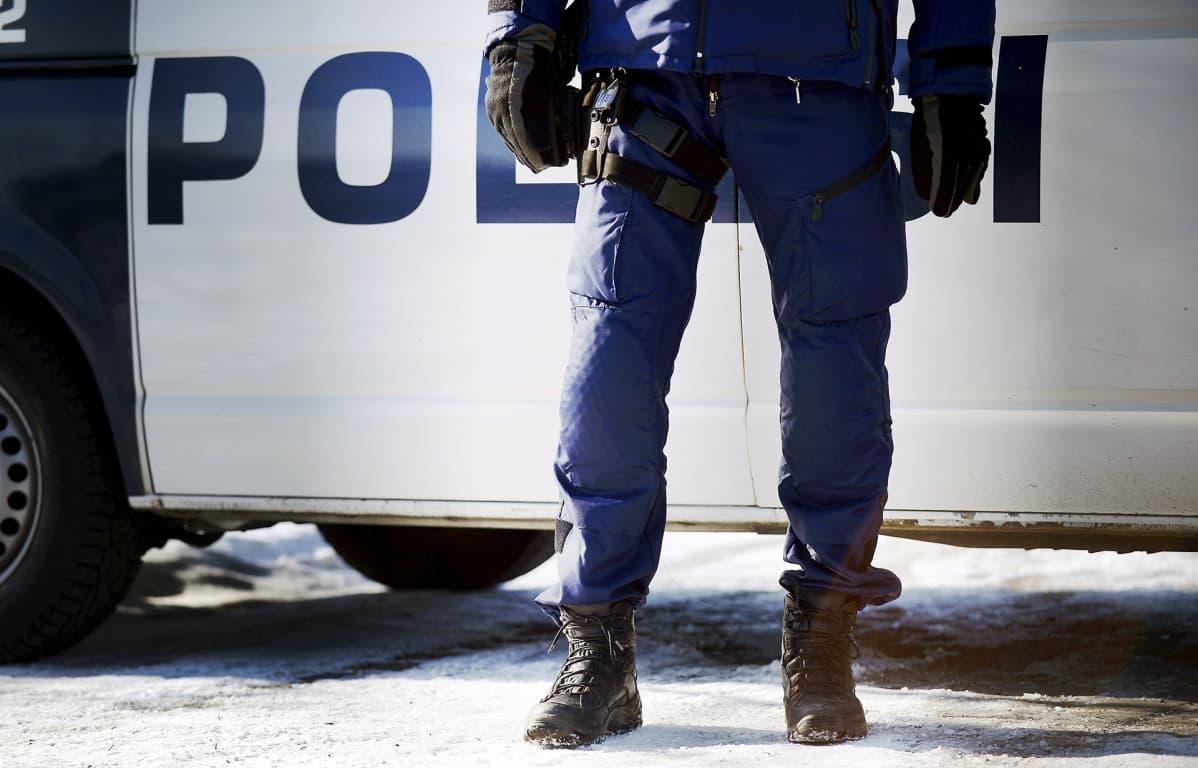 Poliisi Kehä 17 -harjoituksessa Helsingissä.