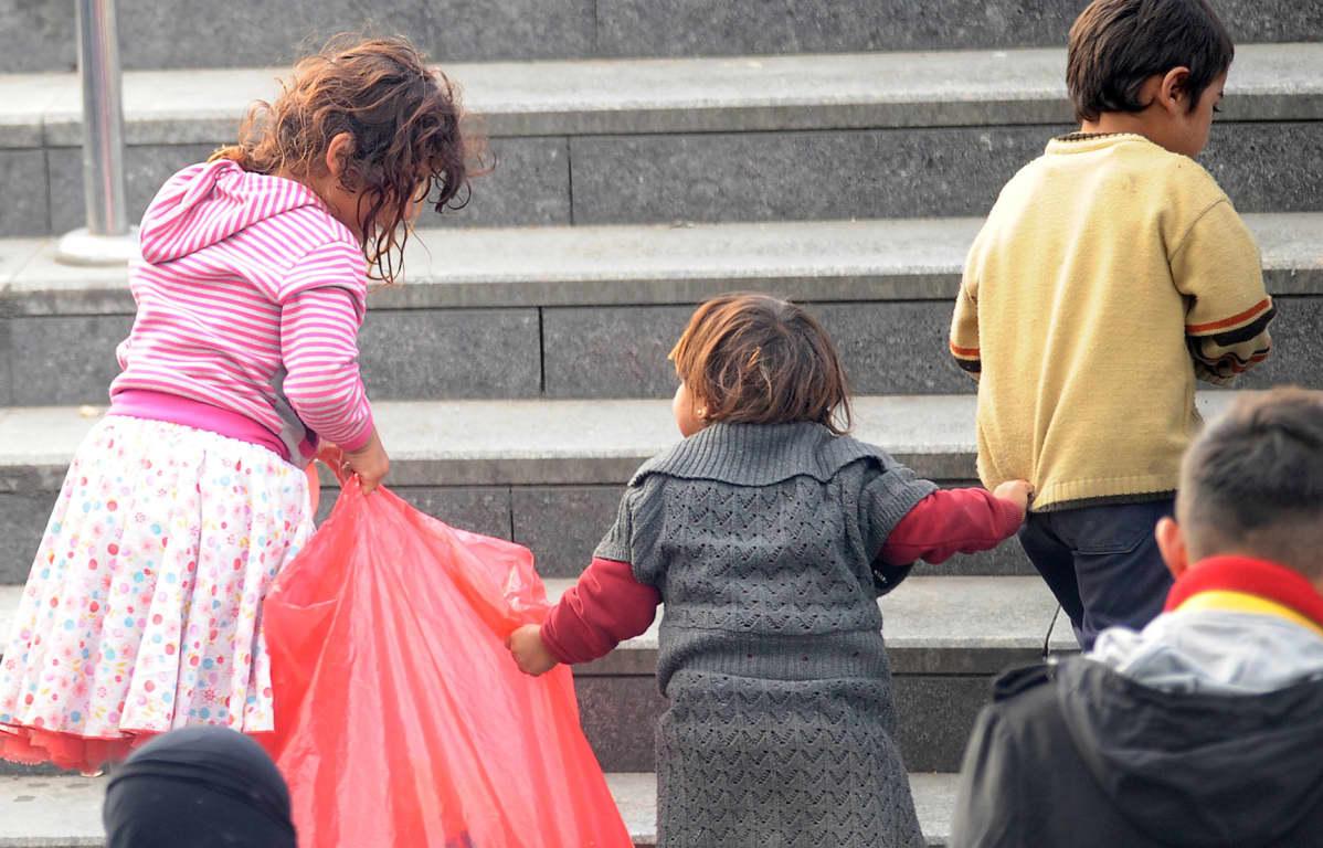 Syyrialaisia pakolaislapsia Istanbulissa 2013
