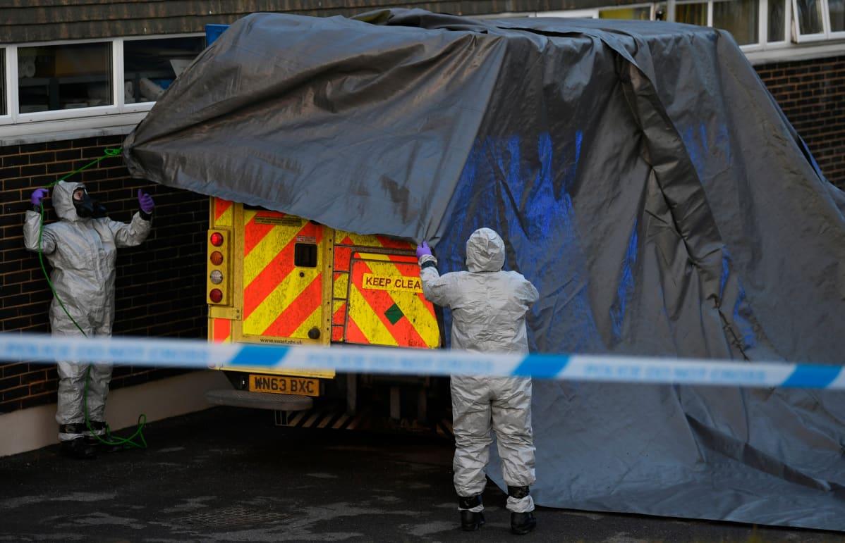 Skripaleita kuljettanut ambulanssi on viety puhdistettavaksi.