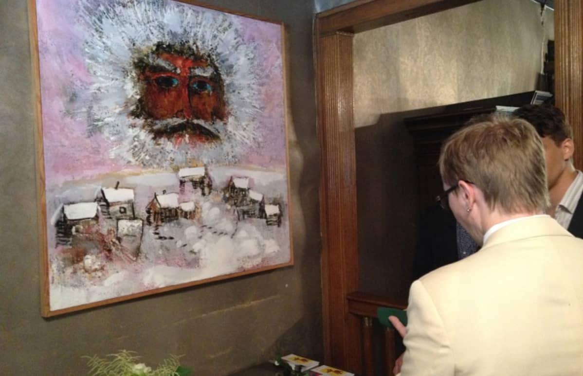 Pyhäniemen taidenäyttely avautui.