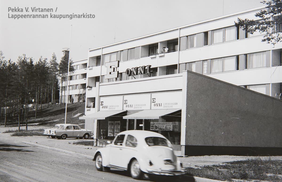 Elintarvikeliike Lapvedellä Väinämöisenkadulla.