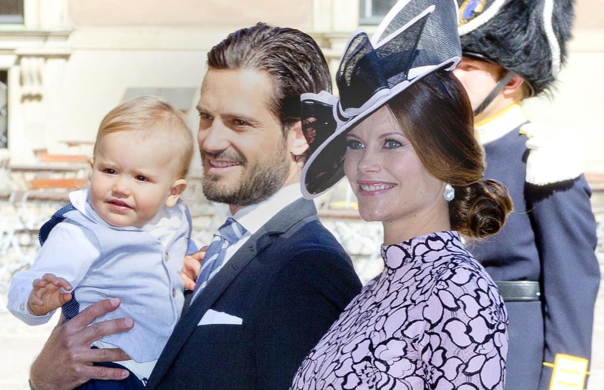 Prinsessa Sofia, prinssi Carl Philip ja prinssi Alexander.
