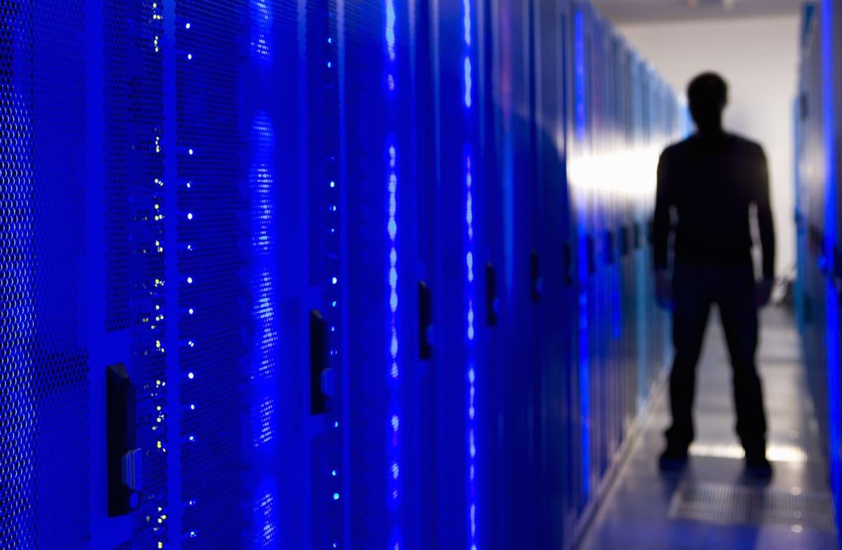 Tietokone serveri.