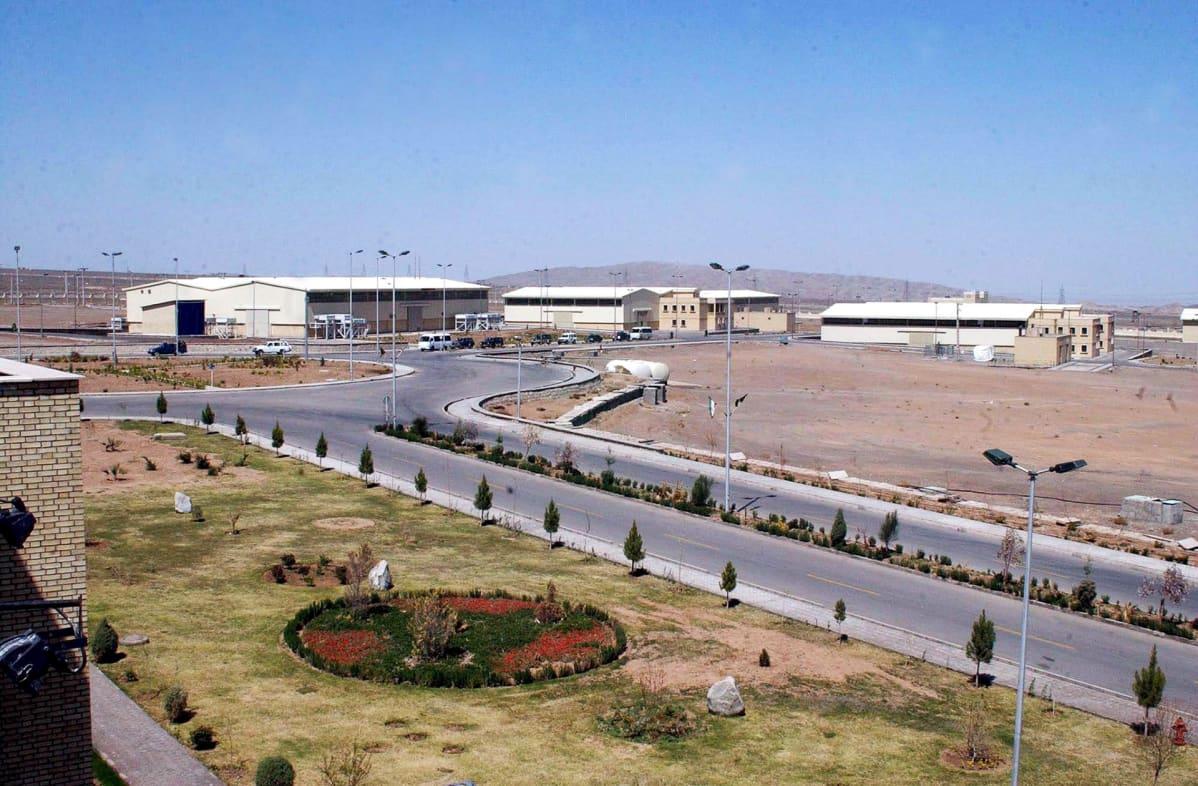Natanzin uraanin rikastuslaitos kuvattuna maaliskuussa 2005.