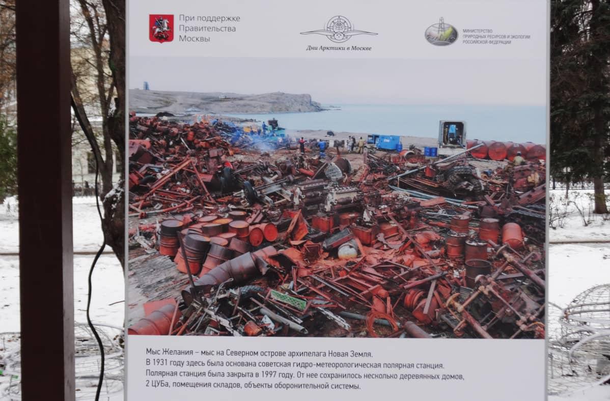 Venäjä on kerännyt valtavia määriä roskaa arktiselta alueelta.