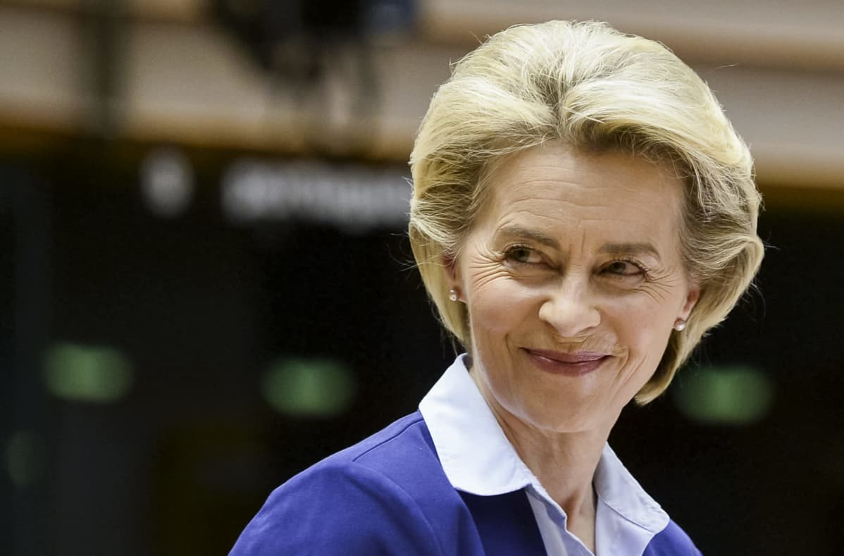 Närbild på Ursula von der Leyen.