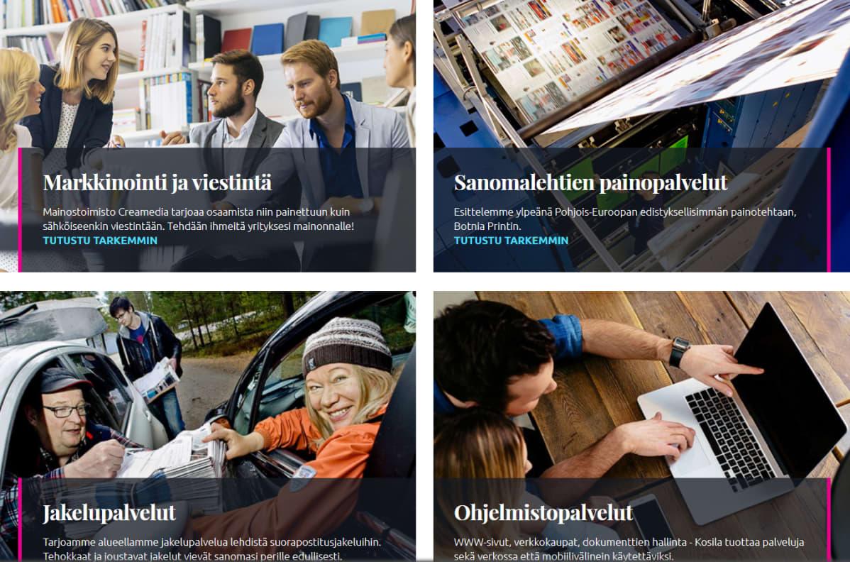 Kuvakaappaus KPK Yhtiöiden nettisivusta.