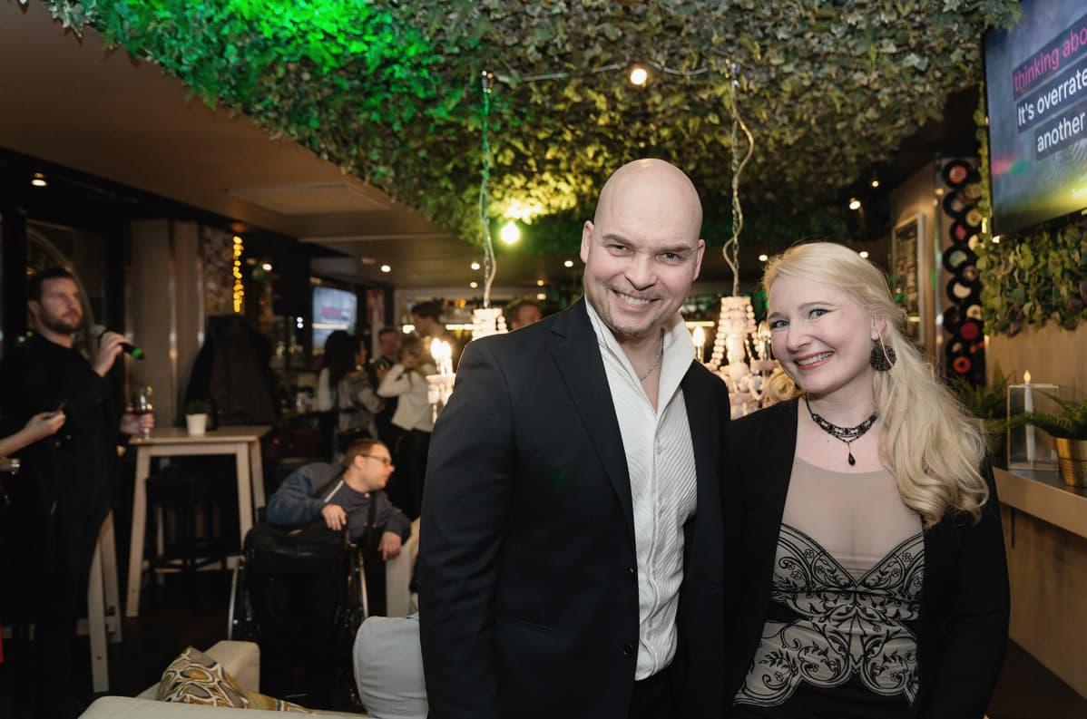 Aki Partanen ja Johanna Lammi.