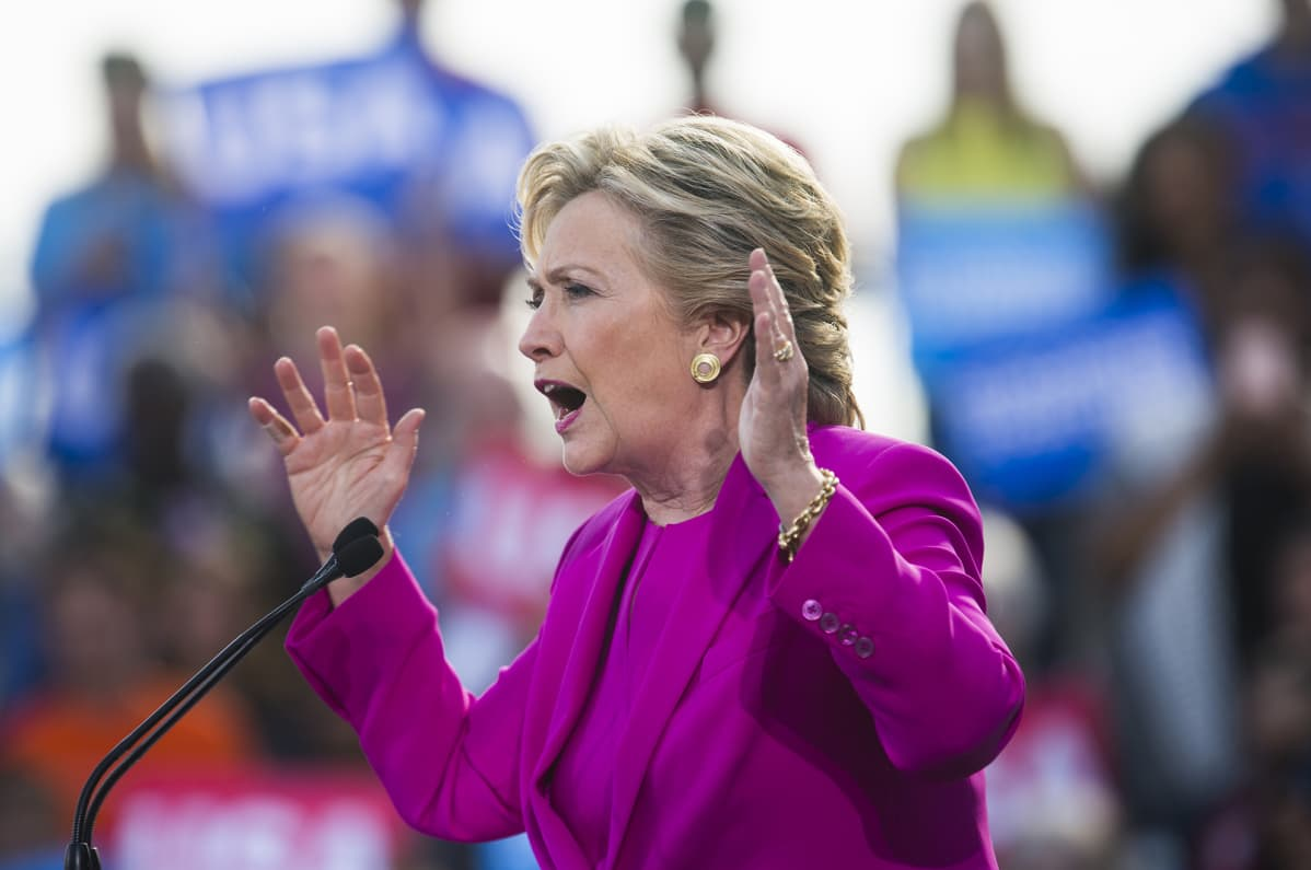 Hillary Clinton Pohjois-Carolinassa 3. marraskuuta 2016.