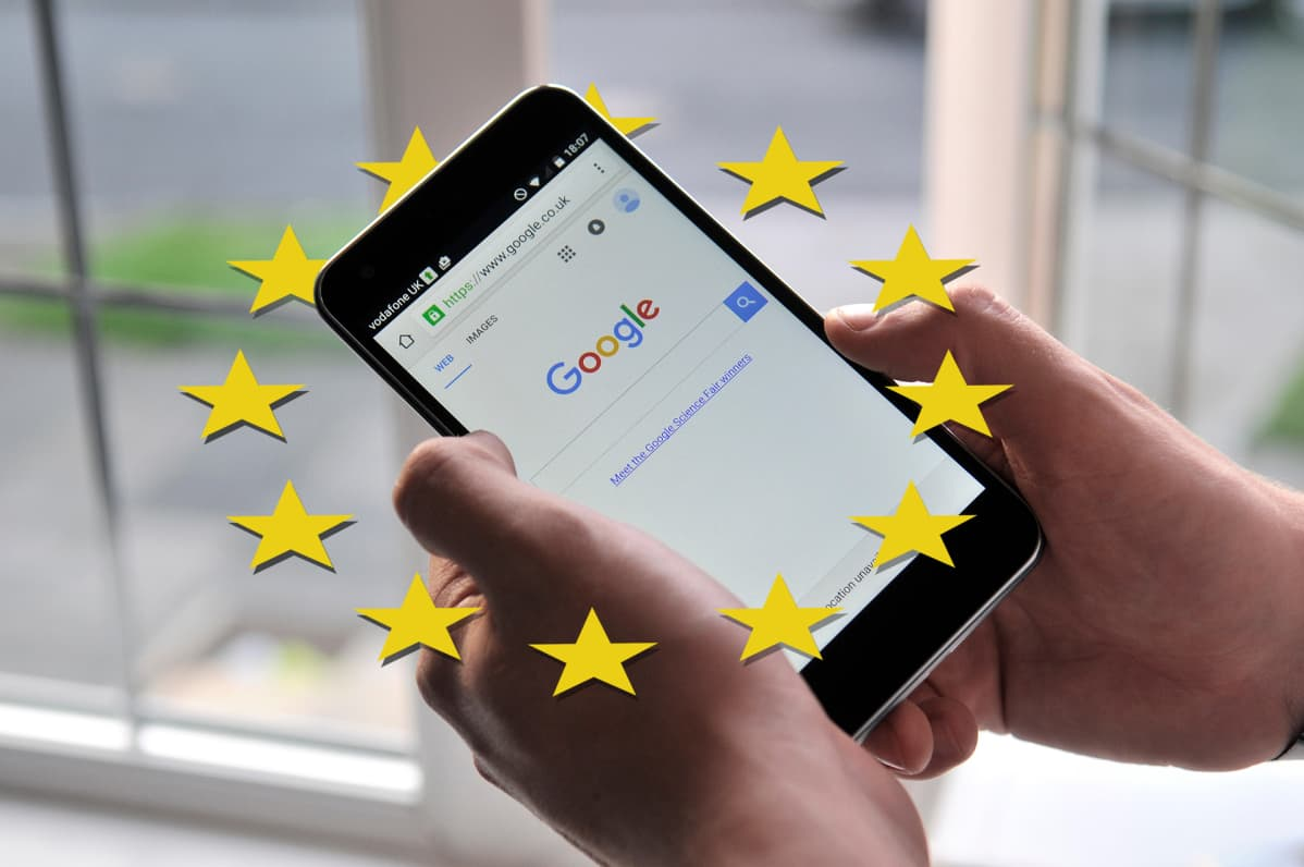 Kuvituskuva Google Vs Euroopan unioni.