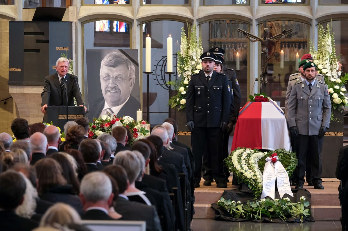 Walter Lübcken hautajaiset Kasselissa.