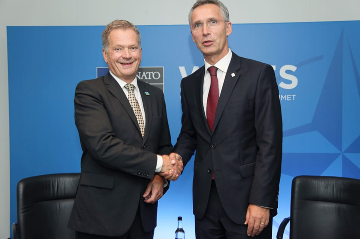 Sauli Niinistö ja Jens Stoltenberg.