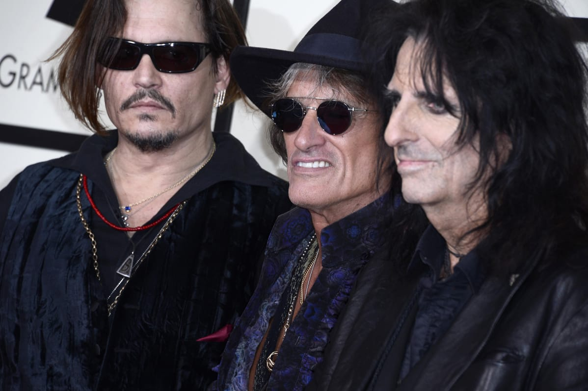 Johnny Depp, Joe Perry ja Alice Cooper.
