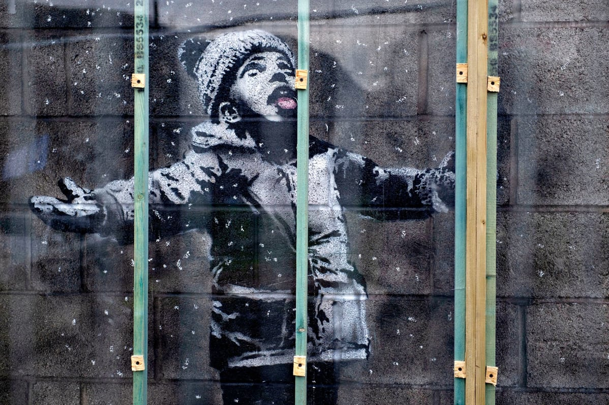 Banksy graffiti.