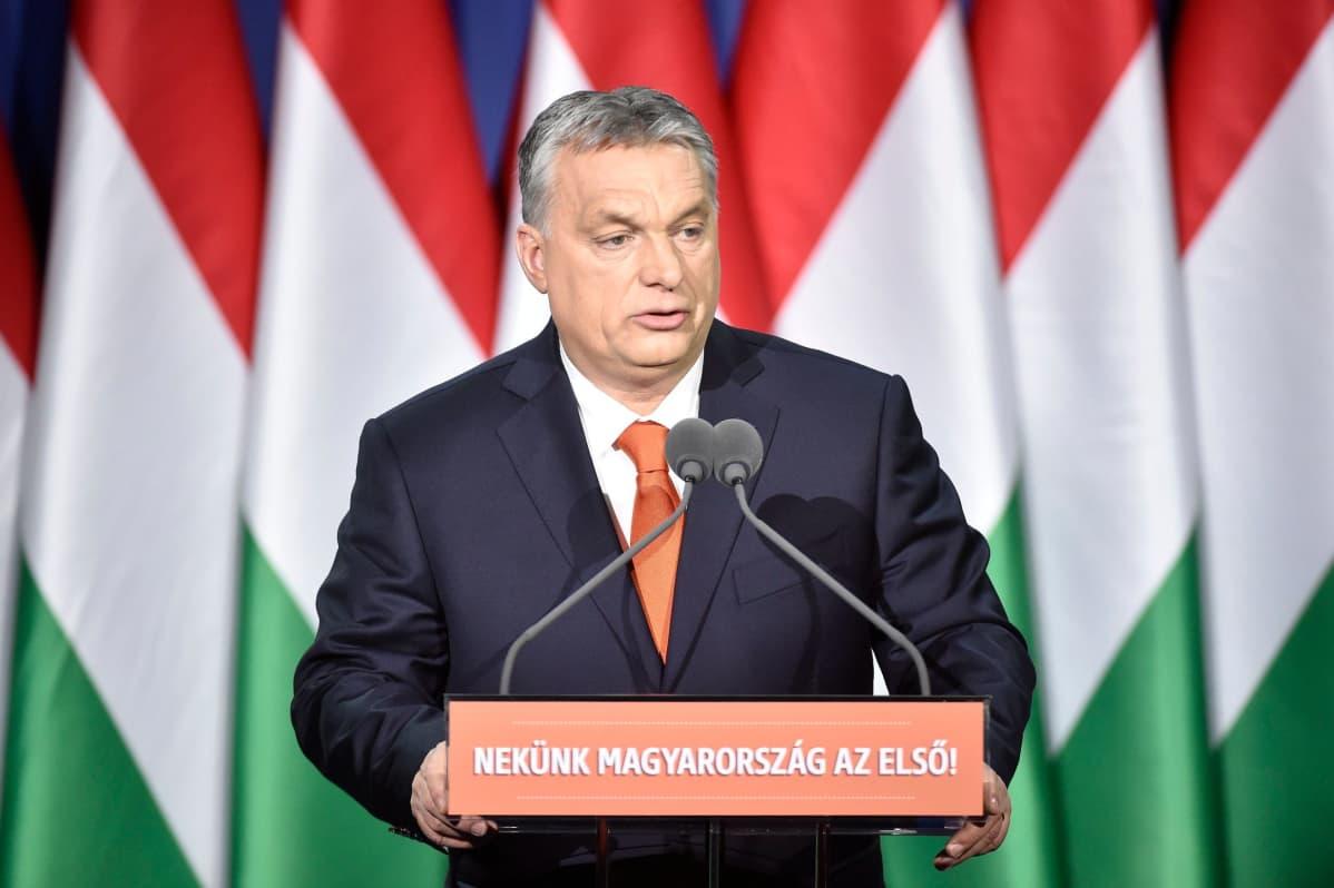 Unkarin pääministeri Viktor Orban piti vuosittaisen puheensa kansakunnalle.