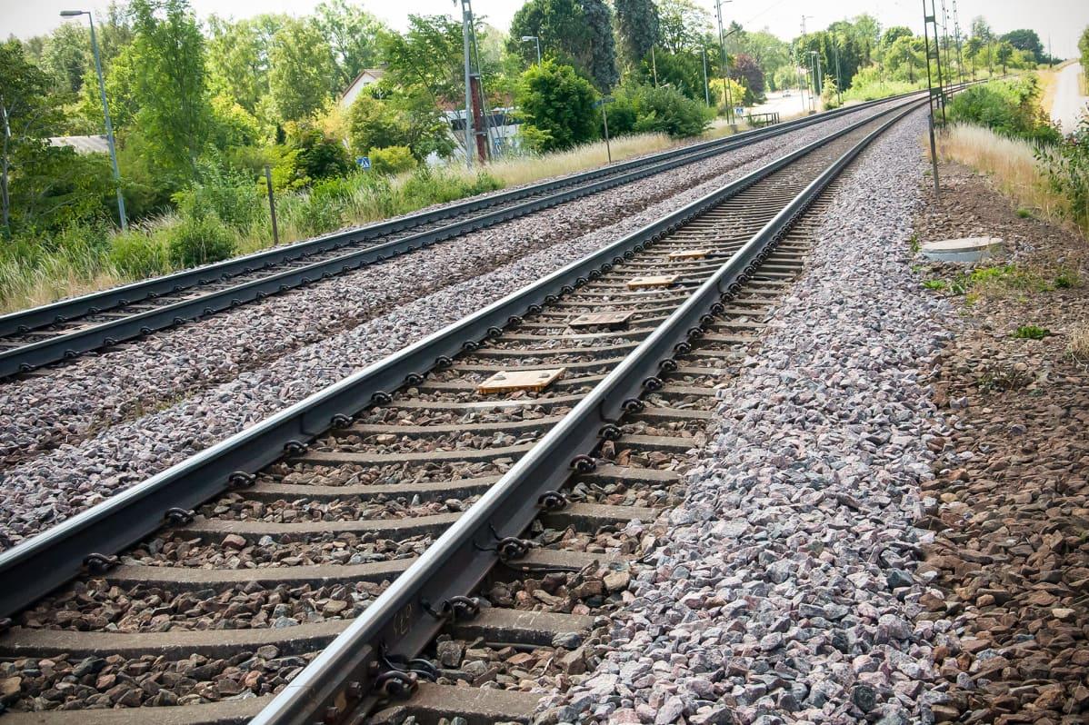 Rautatiekiskot Ruotsissa.