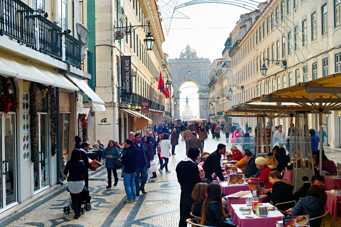 katuelämää Lissabonissa