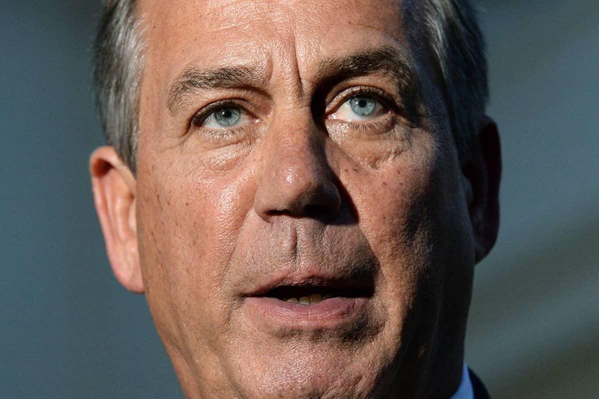 Edustajainhuoneen republikaaninen puhemies John Boehner lehdistötilaisuudessa Washingtonissa 2. lokakuuta.
