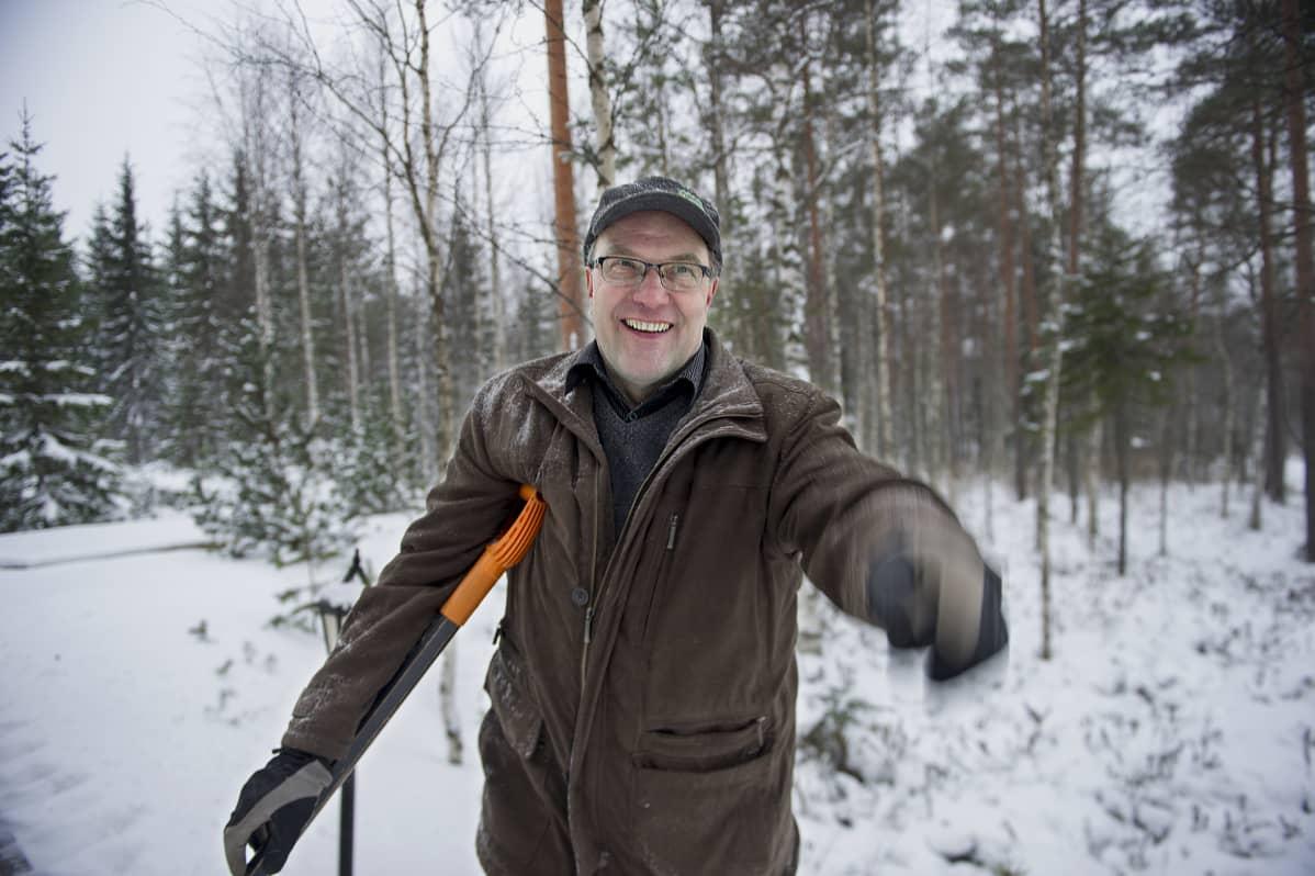 Rauno Hännikäinen Padasjoella.