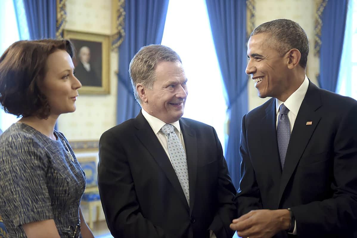 Jenni Haukio, Sauli Niinistö ja Barack Obama