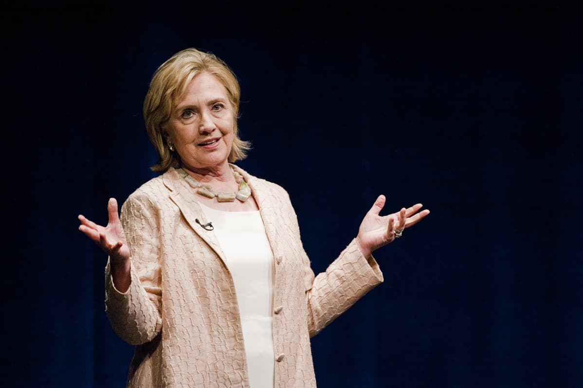 Hillary Clinton puhumassa Austinissa, Texasissa, vuonna 2014.