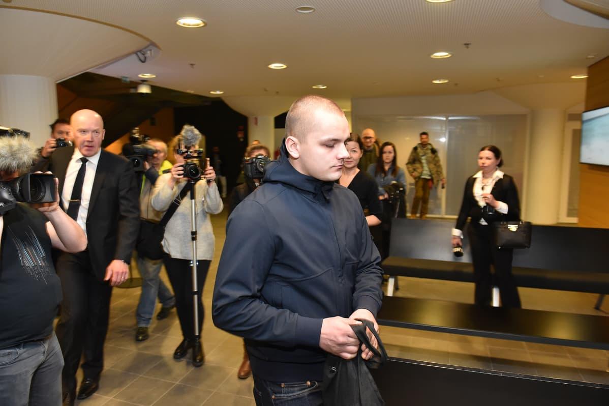 Jesse Torniainen Helsingin käräjäoikeudessa keskiviikkona.