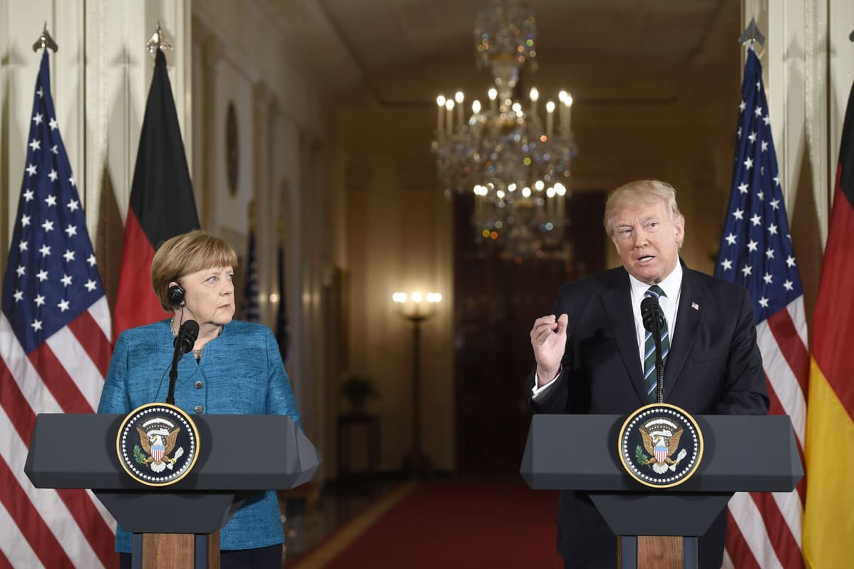 Angela Merkel ja Donald Trump.