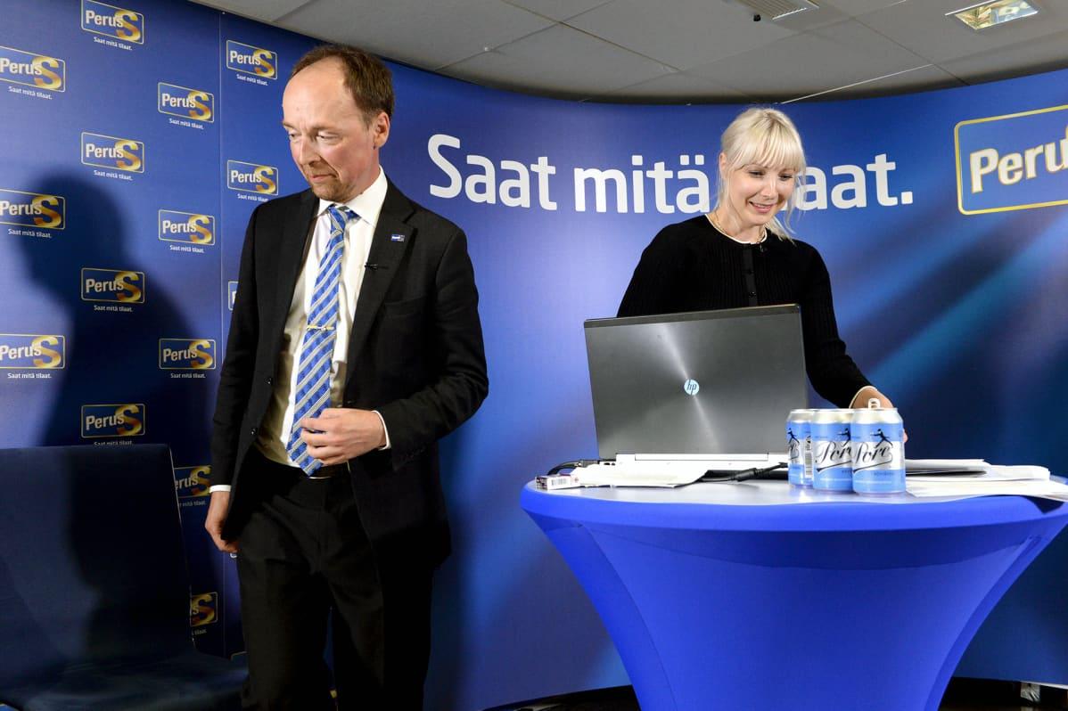 Jussi Halla-aho ja Laura Huhtasaari