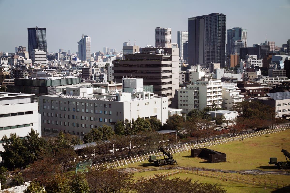Patriot-ohjustorjuntayksikkö Tokiossa.