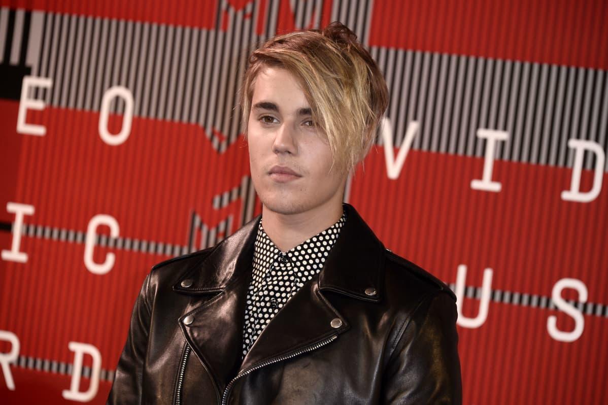 Justin Bieber på röda mattan, VMA augusti 2015.