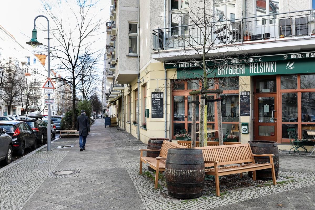 Bryggeri-ravintola Berliinissä.