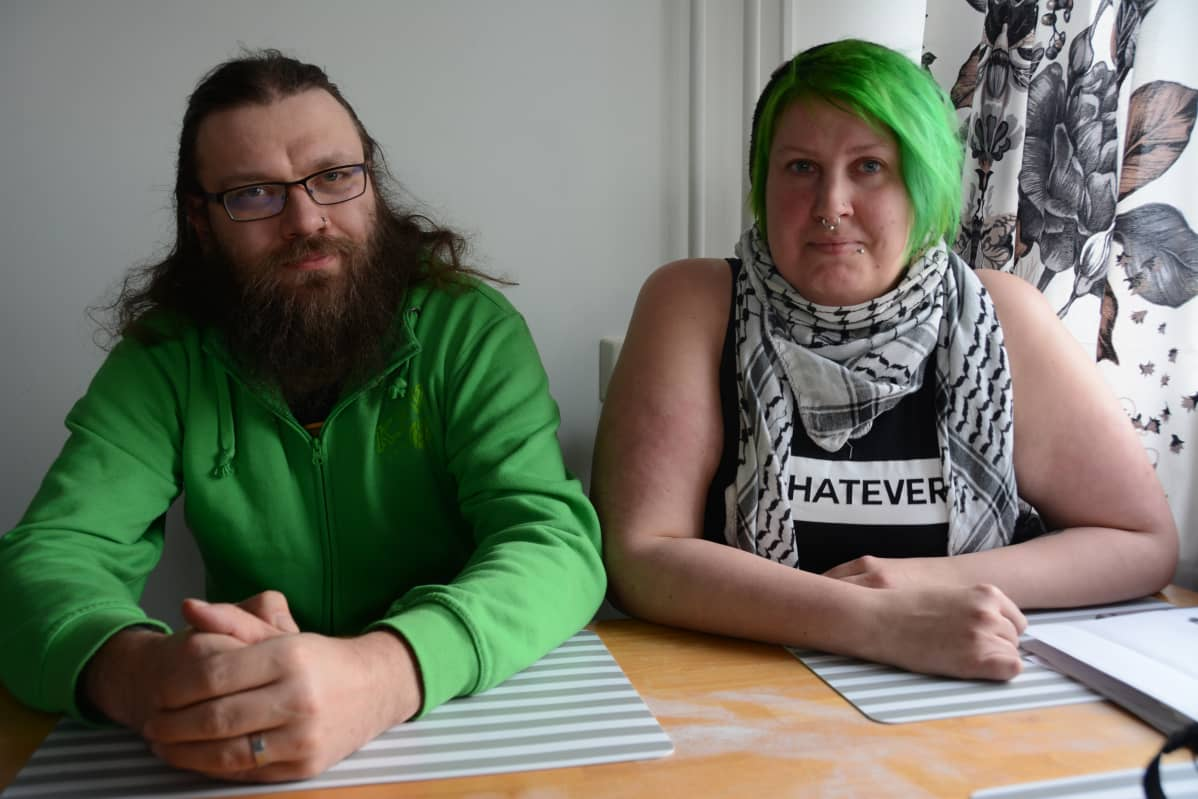 Esa Läheaho ja Tytti Tikkakoski.