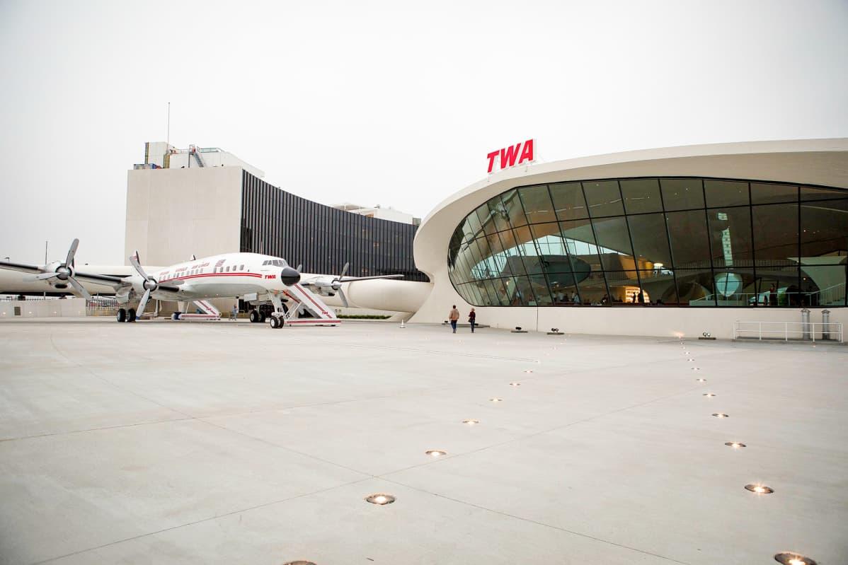 TWA Trans World Airways hotelli NYC John F. Kennedy lentokenttä New York.
