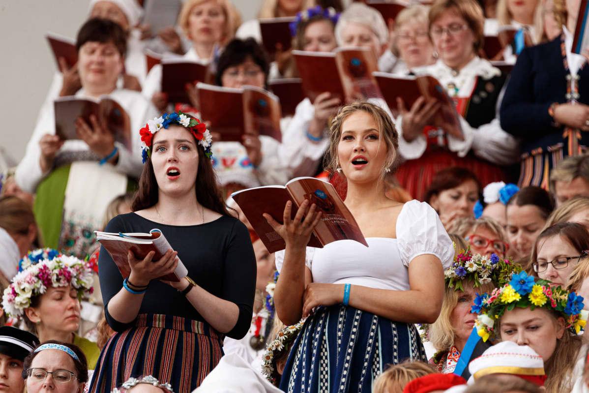 Kuorot ovat treenanneet laulujuhlien ohjelmistoa useita kuukausia.