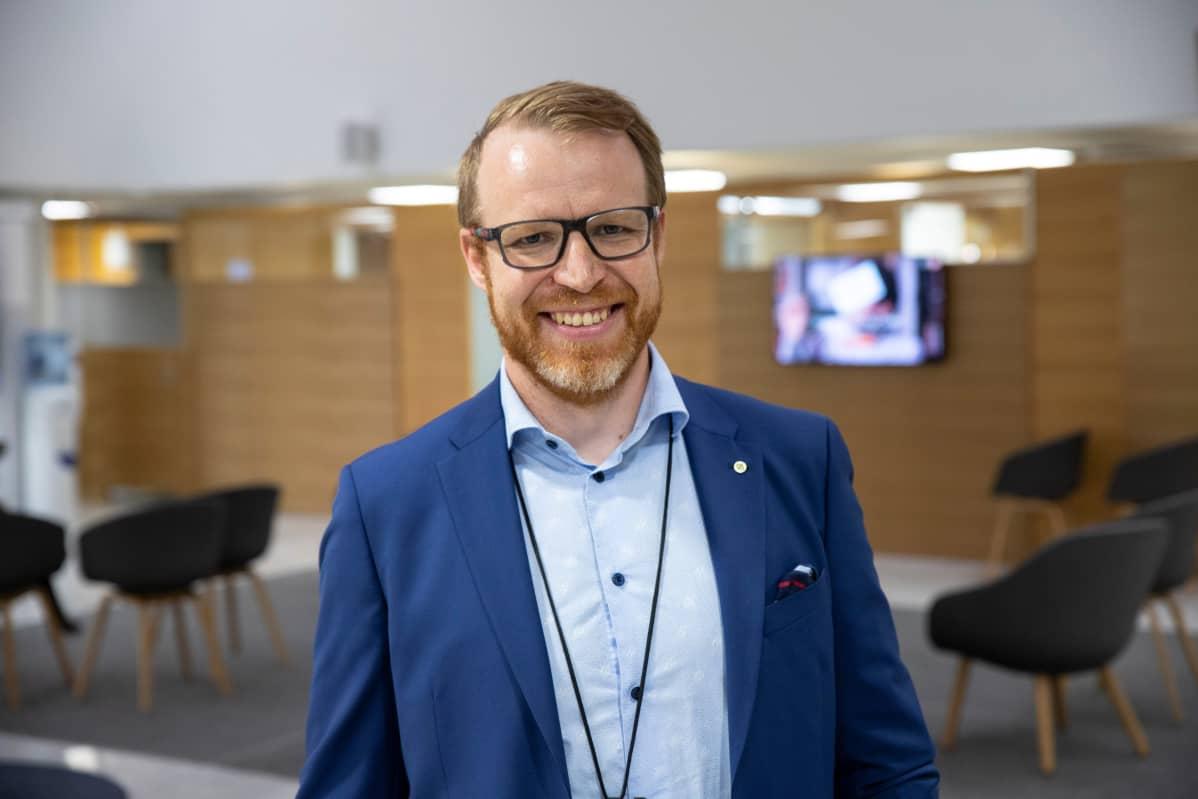Pohjois-Savon Osuuspankkin pankinjohtaja Antti-Jussi Pitkälä