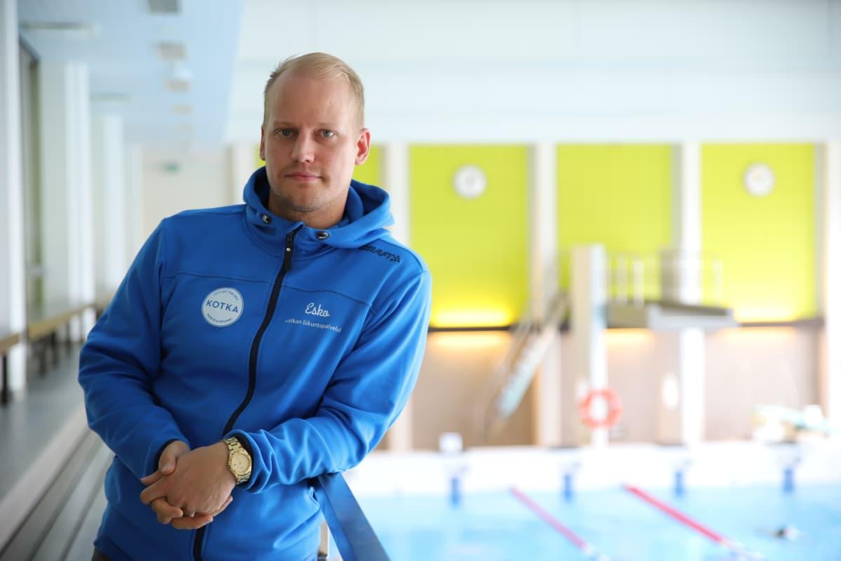 Kotkan liikuntapäällikkö Esko Halonen.