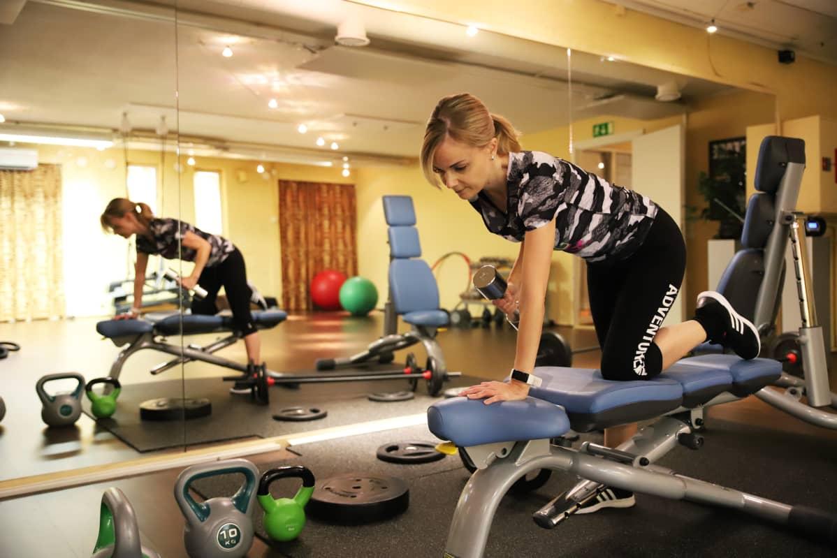 fitnessmittari kuvitus