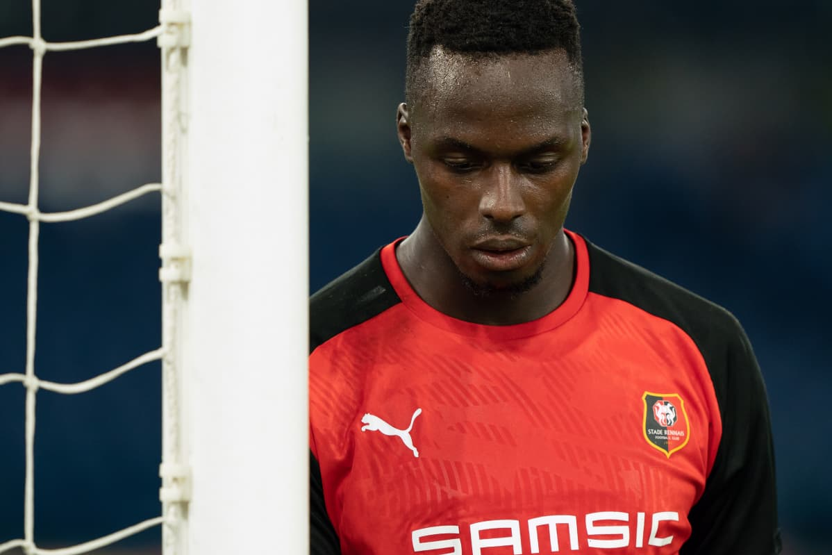 Edouard Mendy of Stade Rennais FC during the UEFA Europa League 2019/2020 Group Stage match between SS Lazio and State Rennais FC at Stadio Olimpico on October 03, 2019 in Rome, Italy.