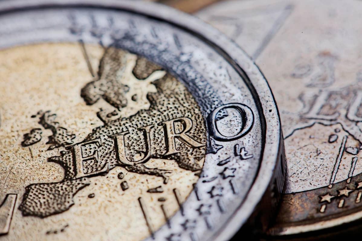 Lähikuva euron kolikosta