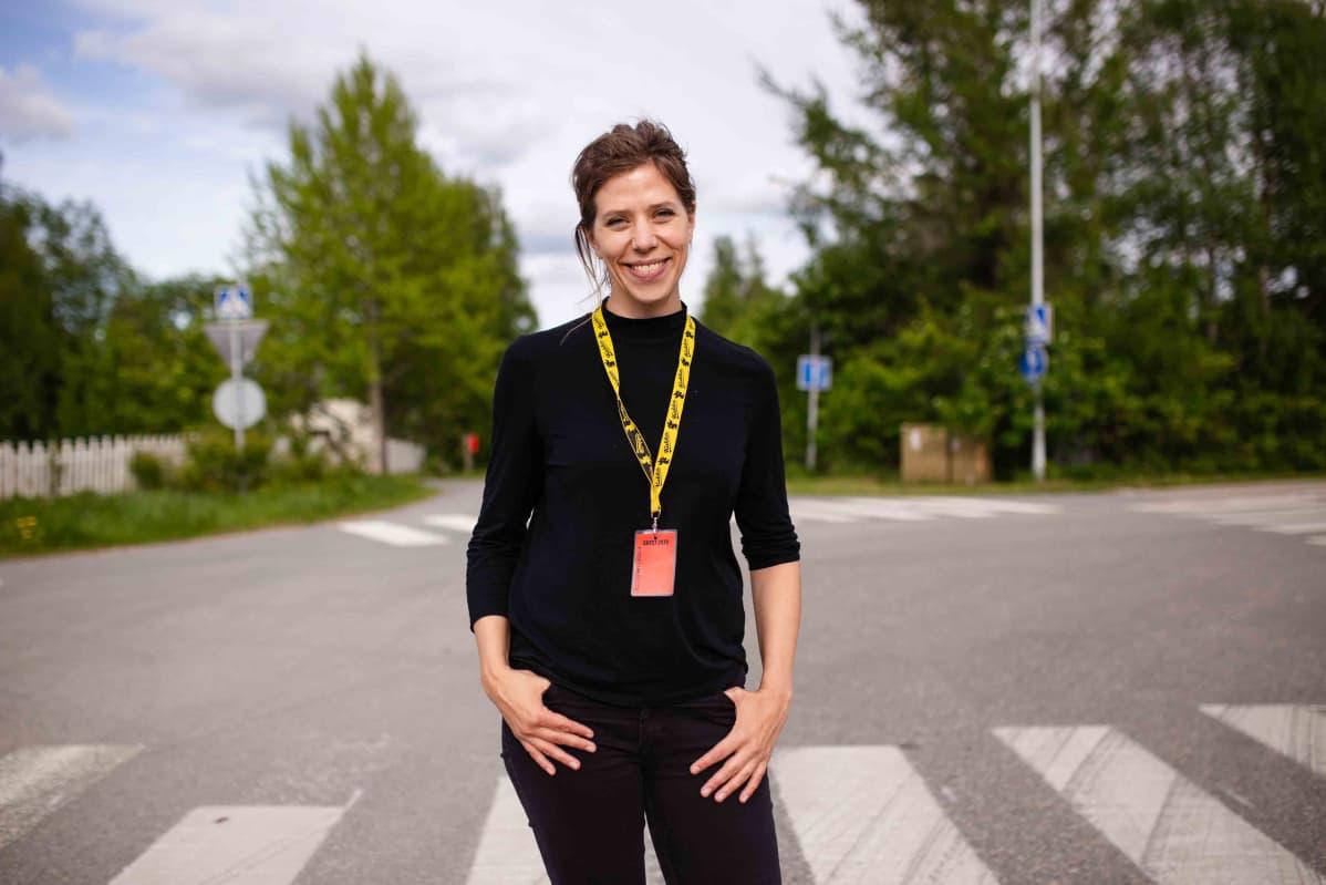 Nora Fingscheidt Sodankylän elokuvajuhlilla kesäkuussa.