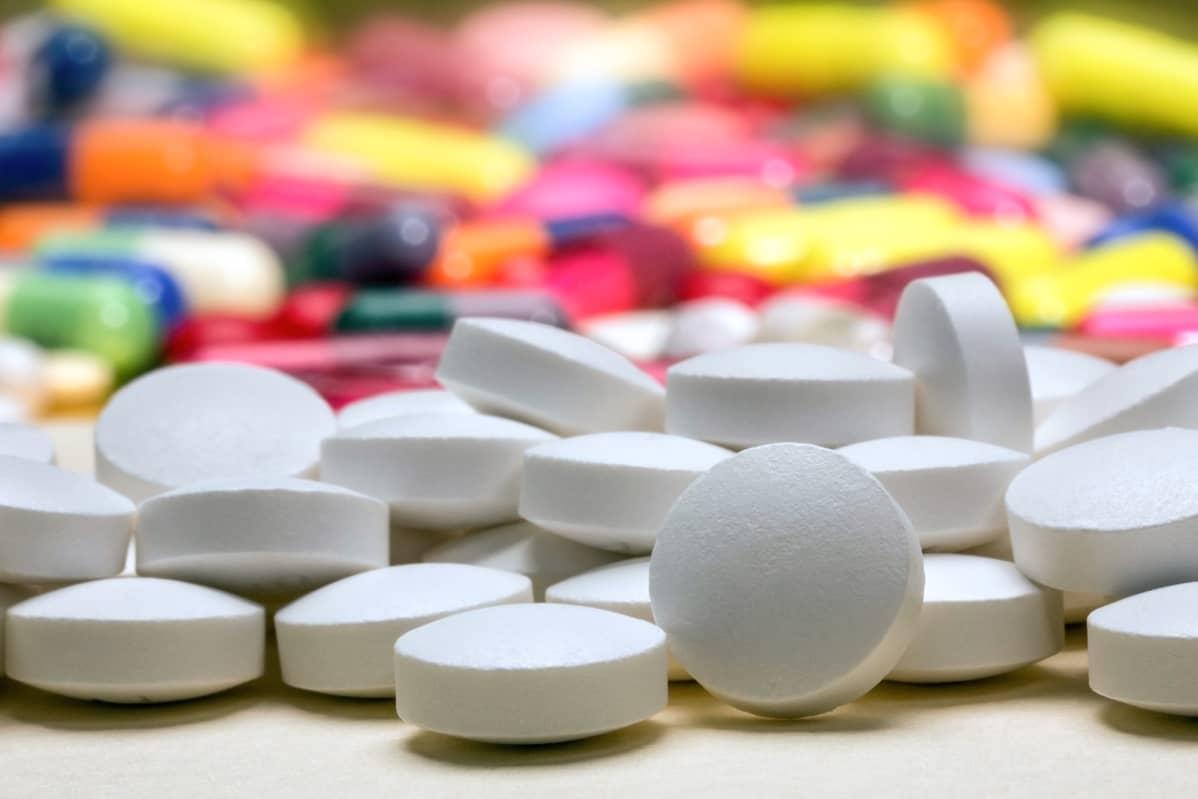 Pillereitä, lääkkeitä.