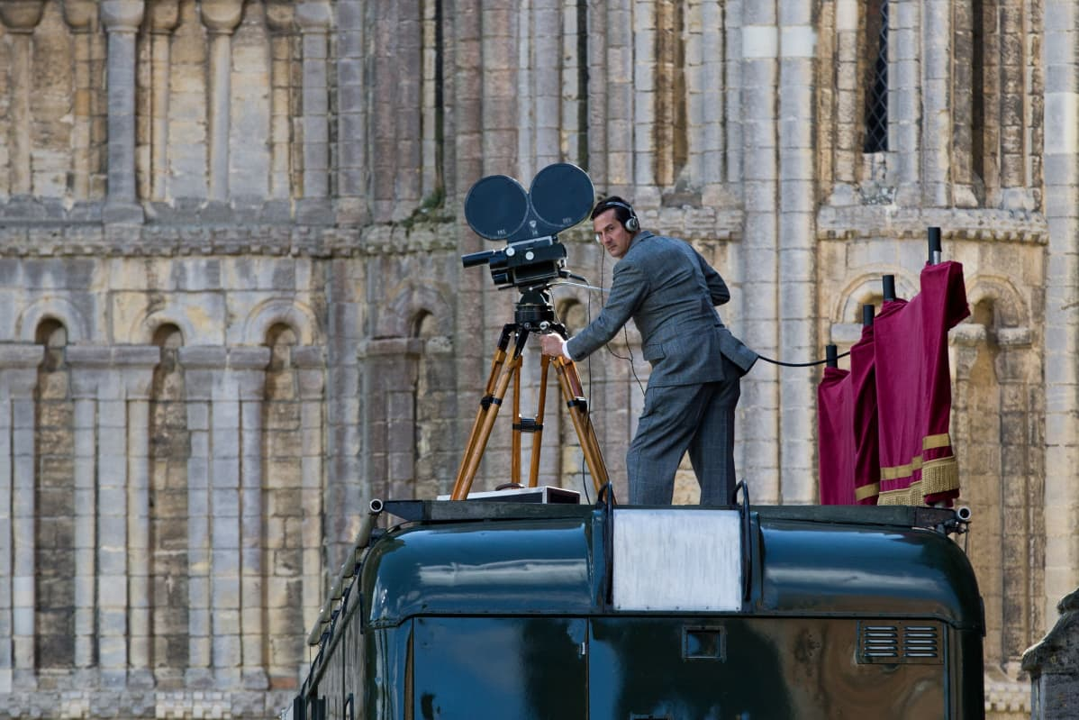 The Crown -sarjaa kuvataan 19.8.2015 Cambridgeshiressa