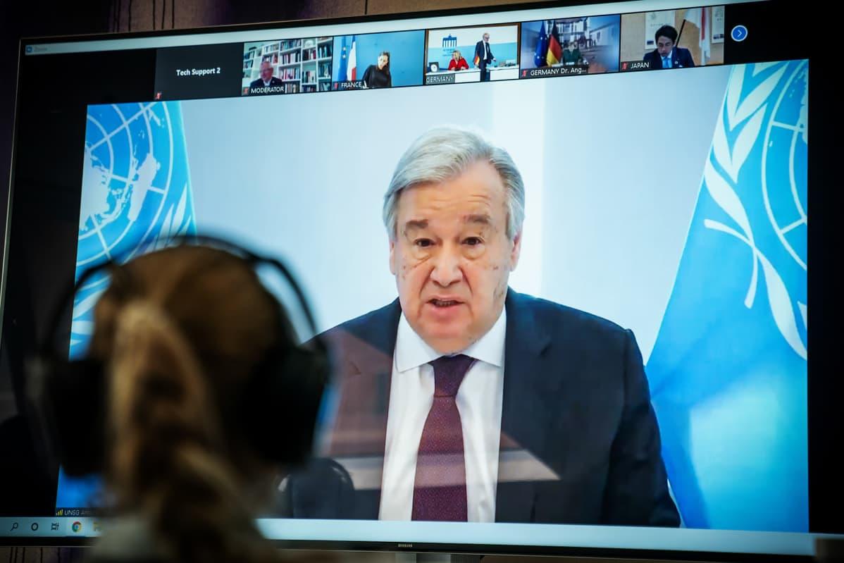 Kuvassa on Antonio Guterres.