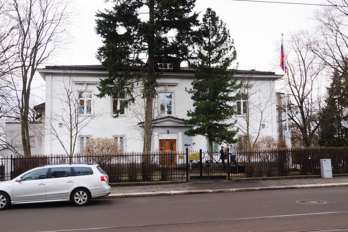 Kuvassa on Venäjän suurlähetystö Oslossa vuonna 2014.