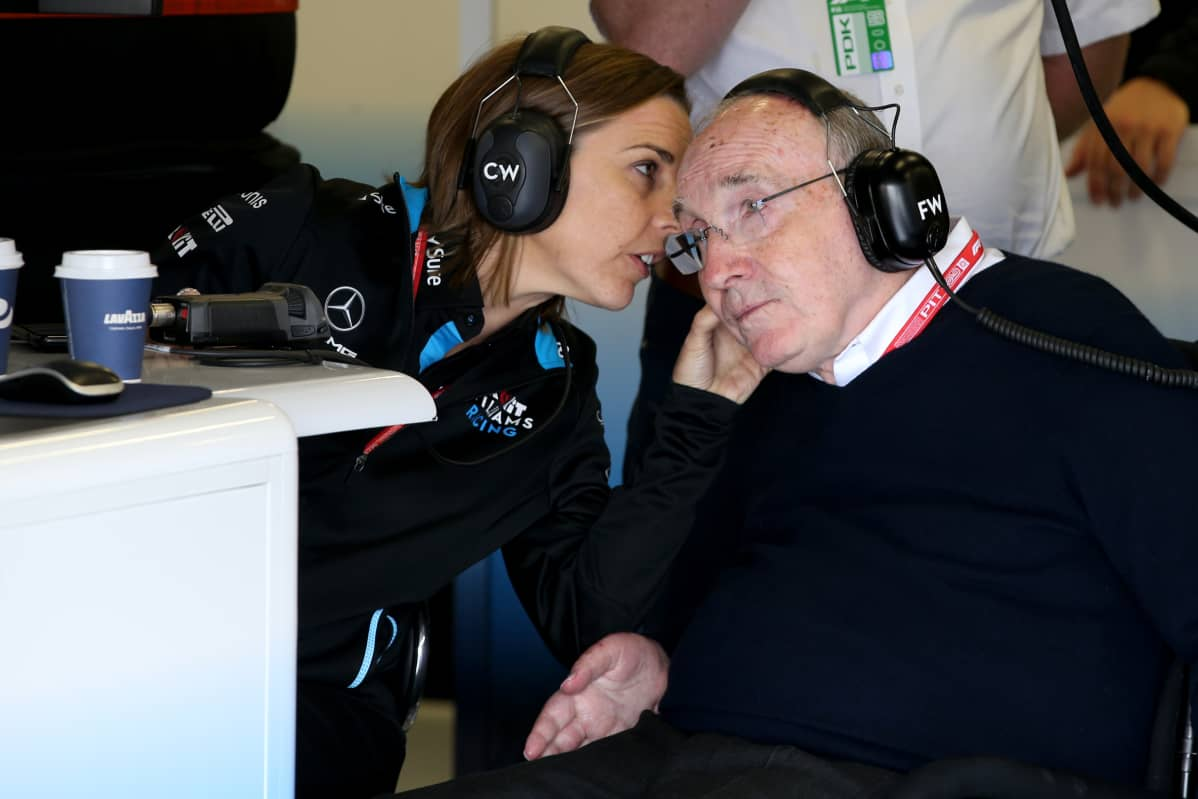 Claire Williams ja Frank Williams 12072019