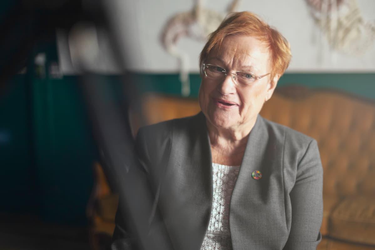 Presidentti Tarja Halonen Avoin kysymys -haastattelussa